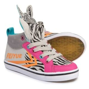 FEIYUE Delta Mid Zebra Sneakers Toddler Size 5